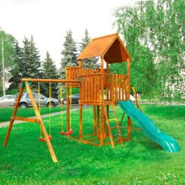 Детская площадка Jungle Gym Palace + Swing Module Xtra