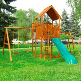 Детская площадка Jungle Gym Palace + Swing Module Xtra + Рукоход