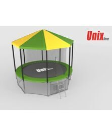 Батут Unix 8 ft inside  green  с крышей